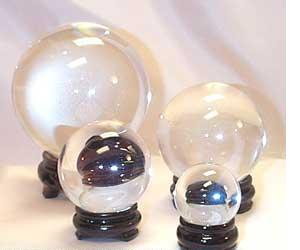 Real quartz crystal balls